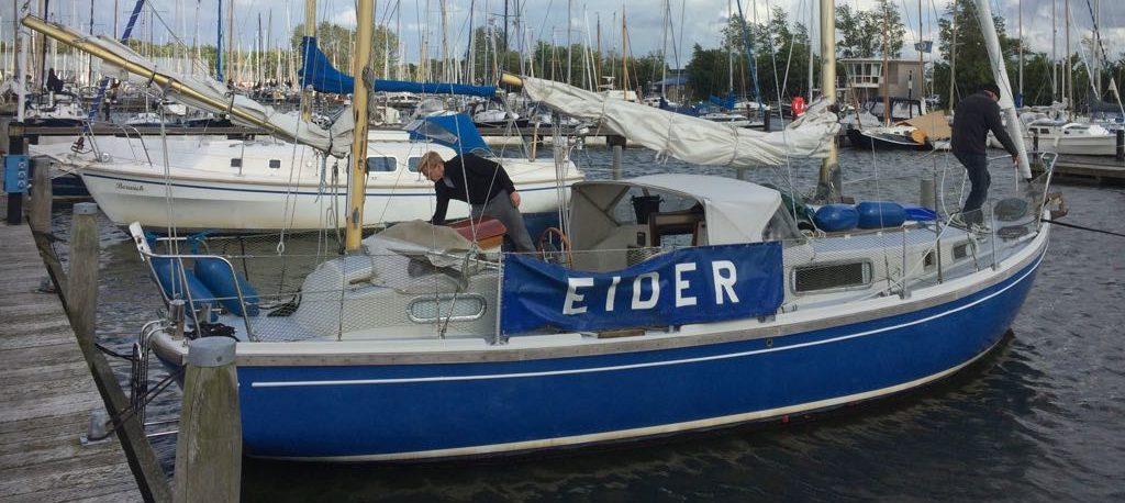 Zeilboot van Jacques Mulder